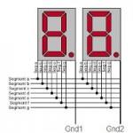 Dedica con display a 7 segmenti